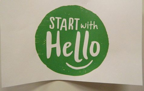 AC4P spreads positive messages on post-it notes for Start with a Hello Week