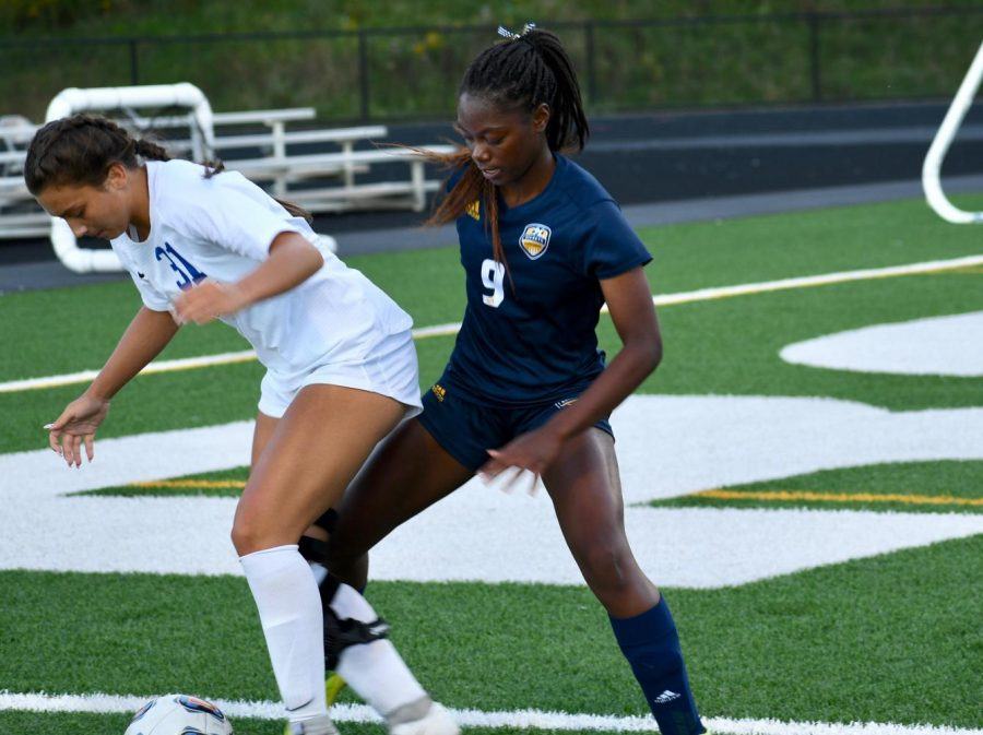 In the photo above is junior Mariah Embry.  Embry has been a fierce defender on the soccer team since her freshman year.  She is a fierce competitor with her speed and a great teammate with her positivity