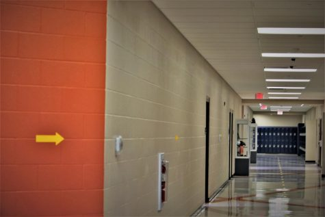 Streetsboro one way hallways trying to prevent the spread of COVID