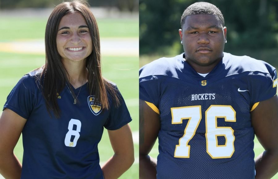Both junior Ella Deevers and senior Mike Hall were named All-American athletes after leading their soccer and football teams, respectively, to league titles.