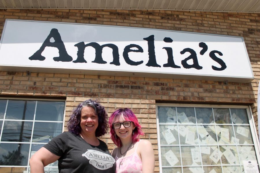 Owner Erin Reuter and her daughter, senior Amelia Reuter, opened Amelias Vintage & Thrift in 2020. The store is just down the street from SHS, right next to BW3s.