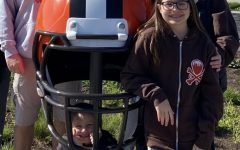 """Senior Owen Stiftar and his family saw everything on display downtown the day before the draft. Saw stage, every team's helmet on display, saw the Cleveland signs. Dad, stepmom and sisters. Wednesday, April 28 """"First time something exciting's happened in Cleveland since the Browns playoff game."""""""